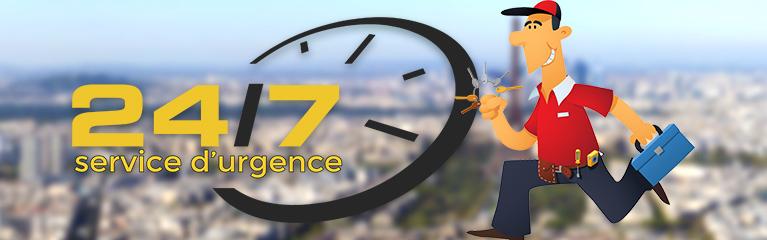 Intervention rapide tous les jours sur simple appel - 7 jours/7 - 24h/24